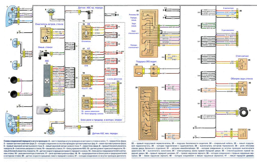 Электрическая схема Лада Ларгус двигатель К4М